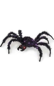 "26"" Prelit PVC Spider - Battery Operated - Black"