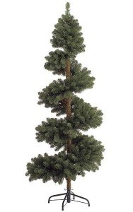 "7' Spiral Spruce Christmas Tree - 572 Green Tips - 39"" Width - Wire Stand"