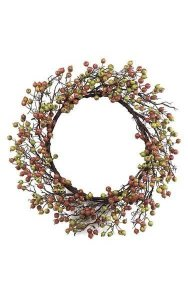 "26"" Wild Gooseberry Wreath - Orange/Green"