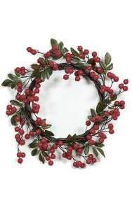 "22"" Crabapple Wreath - Multi- Red"