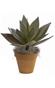 "23"" Agave Plant - Natural Touch - 15 Leaves - 22"" Width - Green - Bare Stem"