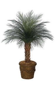 4' Areca Palm Tree - Synthetic Trunk - 33 Green Fronds - Bare Trunk