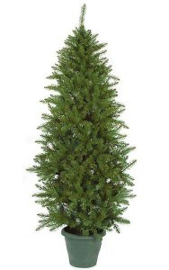 "6.5' PVC Balkan Pine Tree - 922 Green Tips - 36"" Width - Wire Stand"