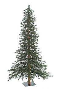 "6' Taos Mountain Pine Christmas Tree - Natural Trunk - 603 Tips - 36"" Width - Metal Stand"