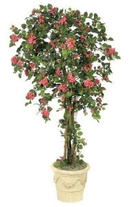 6' Artificial Bougainvillea - Natural Trunks - 1,812 Leaves - 811 Flowers - Beauty - Weighted Base