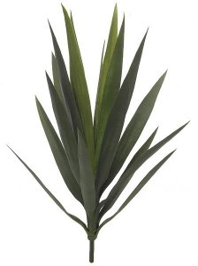 "24"" Outdoor Yucca Plant - 16 Leaves - 9"" Width - Green- Limited UV Protection"
