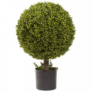 "27"" Outdoor Boxwood Ball Topiary"