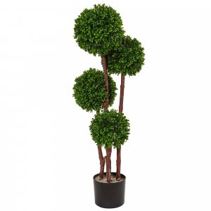 EF-5486 3' Outdoor Exotic UV Resistant Plastic Boxwood Ball Topiary