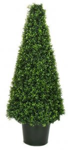 4'  UV Outdoor Boxwood Cone Topiary