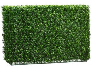 "24""Hx12""Wx37.5""L Boxwood Hedge Two Tone Green"
