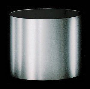 "10"" Brushed Silver Container - 10.5"" Outside Diameter - 10"" Height"