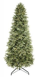 "C-103230 7.5' Spruce Slim Tree New Plastic Real Feel Tips 46"" Wide ***No Lights***"