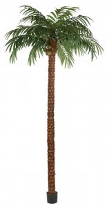 15' Coconut Palm Tree - Synthetic Trunk - 21 Fronds - 555 Leaves - Weighted Base