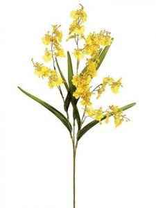 "31"" Dancing Orchid -  91 Flowers - Yellow"