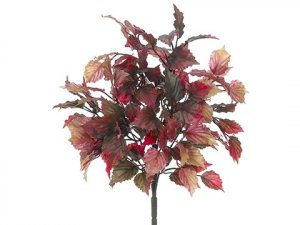 "16"" Mini Coleus Leaf Bush x5 With 126 Leaves Mustard Orange Outdoor/Indoor  (Price is for 12 pc set)"