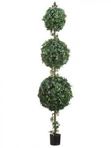 "58"" Triple Ball-Shaped Grape Ivy Topiary"