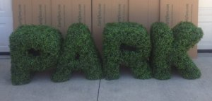 Custom Made Boxwood letters