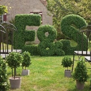 EF-1023 NEW Boxwood Letter topiaries