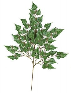 "35"" Birch Branch - 62 Leaves - Green"