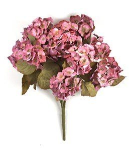 "P-0423 Hydrangea Bush -10 Flowers -44 Leaves -22 "" Height -Mauve"