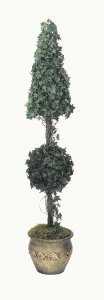 Life Like Faux 6' Cone Ball Oxford Ivy Topiary
