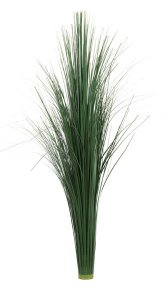 "31"" PVC Onion Grass on tube Dark Green"