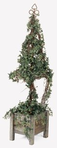 "58"" Life Like Faux Pittsburgh Ivy Topiary"
