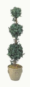 Life Like Faux 4' Triple Ball Oxford Ivy Topiary