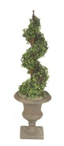 "46"" Tall Life Like Faux Pittsburgh Ivy Spiral Topiary"