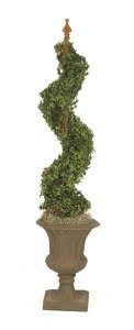 "68"" Tall Faux Pittsburgh Ivy Spiral"