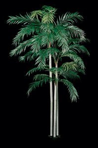 15' Faux Tropical Areca Palm Tree