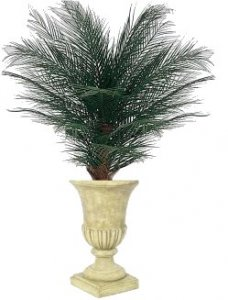 Custom Made 4' Artificial Areca Palm Bush Safe for Outdoor Use!