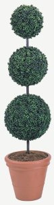 Custom Made Polyblend Boxwood Topiary Safe for Outdoor Use!