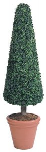 "Bt-80 Custom Made 7.5' Polyblend Boxwood Topiary 24"" Wide Safe for outdoor use!"