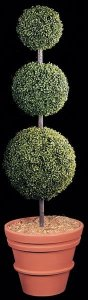 Custom Made 6' Life Like Plastic Boxwood Topiary