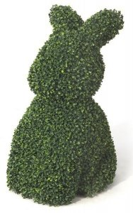 Faux Like Like All Weather Rade Resistant UV Plastic Mini Boxwood Rabbit