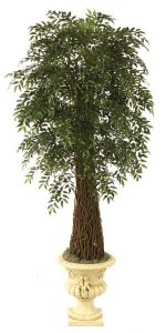 9' Life Like Faux Ficus Smilax Tree