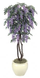 Custom Faux Wisteria Tree Made in Various Heights & Colors
