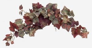 "30"" Grape Leaf Swag Burgundy/Green"