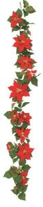 6' Large Poinsettia Garland