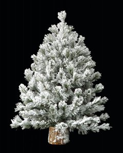 "24"" Medium Flocked Canyon Pine Tree"