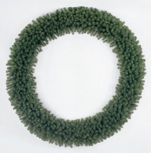 "C-208L 100"" Virginia Christmas Pine Wreath with lights"