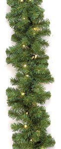 Virginia Pine Christmas Garland with lights