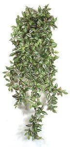Faux Life Like Wandering Jew Hanging Bush