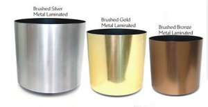 Metal Laminated Plastic Containers Comes in Gold, Silver or Bronze