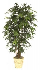 W-2660 7' Faux Life Like Bamboo Palm Tree