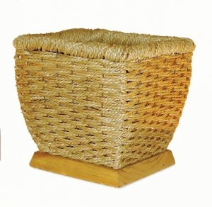 "7 "" Grass Rope Basket --natural -6 "" inside square"