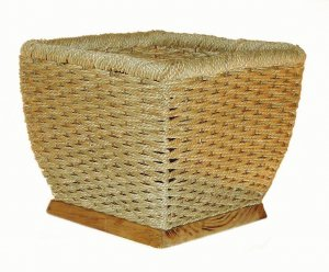 "9 "" Grass Rope Basket --natural -9 "" inside square"