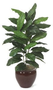 4.5' Faux Life Like Chinese Evergreen House Plant