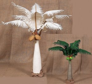 3', 5', 7', 9', 12' Canvas Coconut Palm